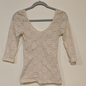 Urban outfitters floral lace quarter sleeve